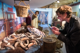 Creative Collisions youth arts network exhibtion at the Time and Tide Museum, Great Yarmouth. Crafting History Heritage Trail with artists in residence and young artists work on display. Last Silver Harvest by Mella Shaw. PICTURE: JAMES BASS PHOTOGRAPHY